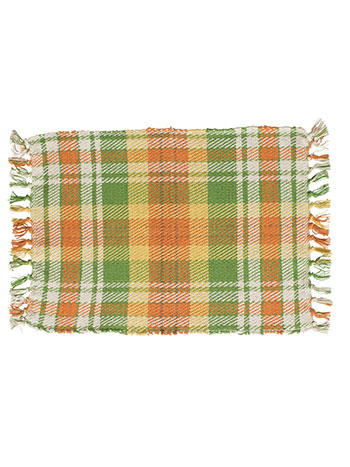 September Plaid Rib Placemat Set of 4