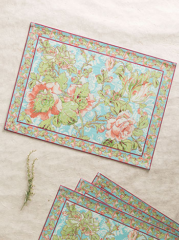 Tea Rose Placemat S/4