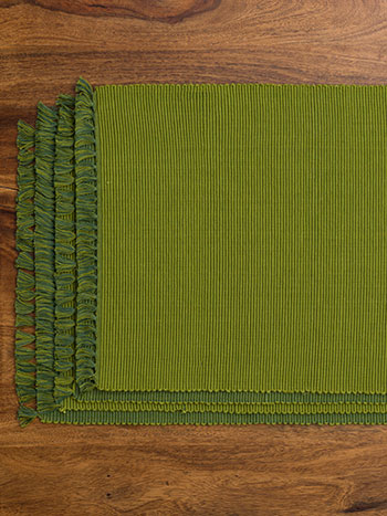 Essential Placemat Set/4 - GreenDkGreen