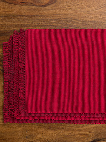 Essential Placemat Set/4 - RedDkRed