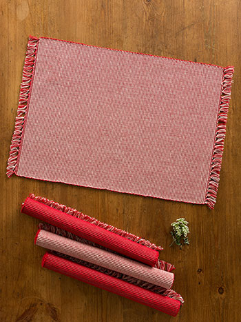 Essential Placemats Set/4 - RedEcru
