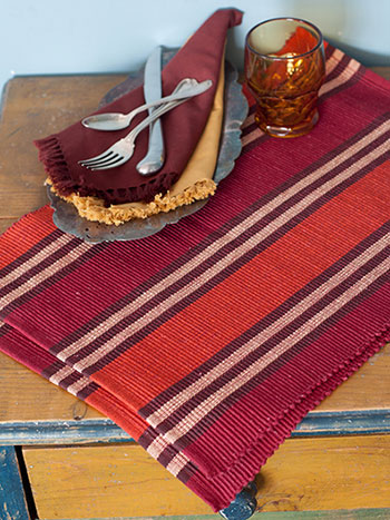 Harvest Plaid Rib Placemat Set/4