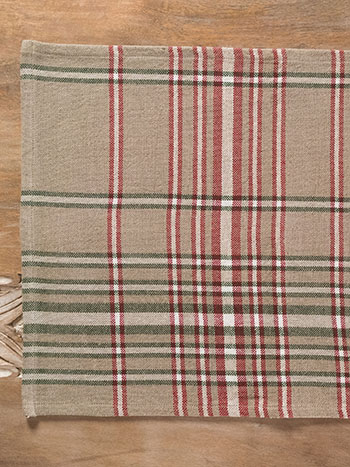 Homespun Christmas Plaid Rib Placemat
