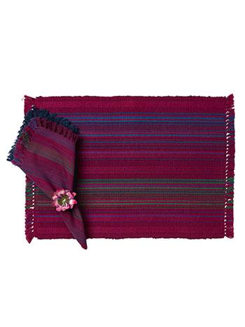 Jaipur Stripe Rib Placemat Set/4