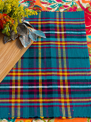 Market Plaid Rib Placemat Set/4