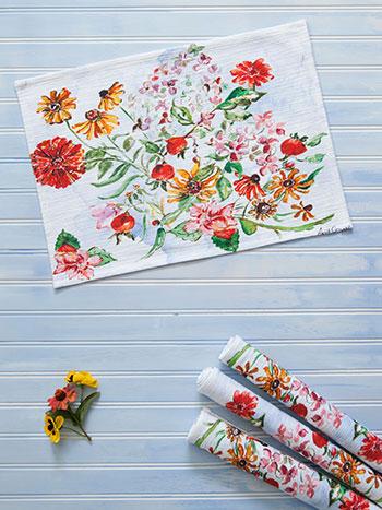 Zinnia Bouquet Placemat