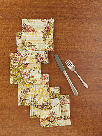 Fern Cocktail Napkin Set of 6