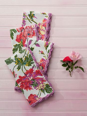 Greta's Garden Crochet Napkin