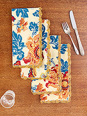 Ming Crochet Napkin Set of 4
