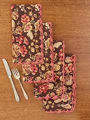 Nasturtium Crochet Napkin Set of 4
