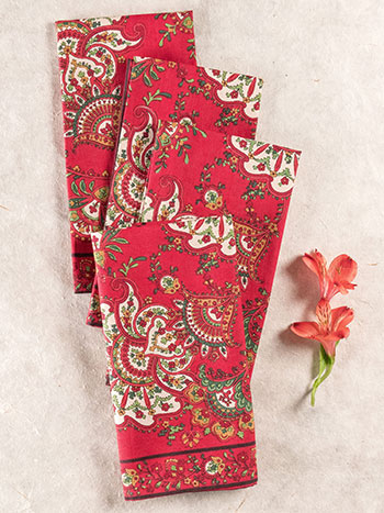 Empress Paisley Napkin Set of 4