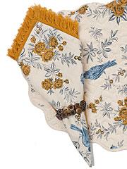 Garden Sparrow Napkin Set/4