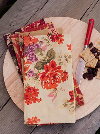 Harvest Patchwork Napkin Bundle Set/4