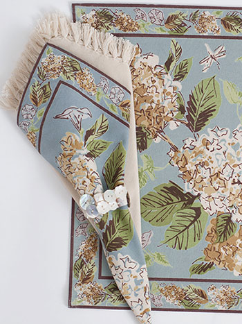 Harriet's Hydrangea Napkin Bundle Set/4 - Smoke