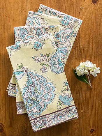 Playful Paisley Napkin Bundle S/4