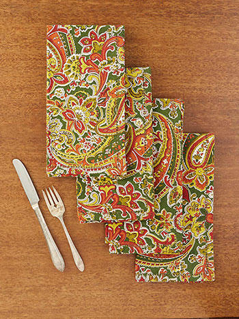 Priscilla's Paisley Napkin Set of 4