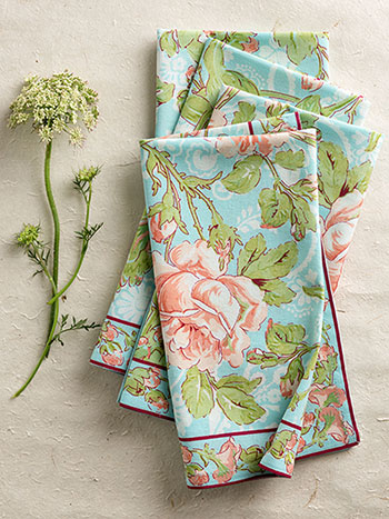 Tea Rose Napkin Bundle S/4