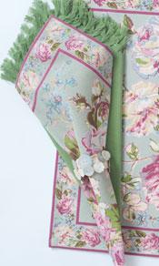 Victorian Rose Napkin Bundle Set/4 - Sage
