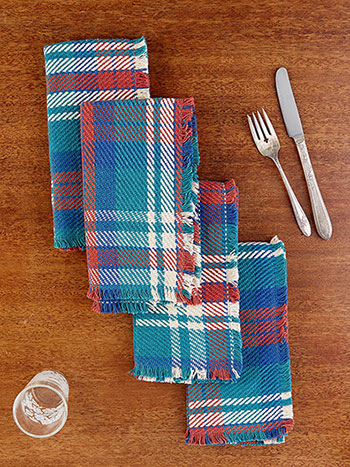 Afternoon Plaid Napkin Set of 4