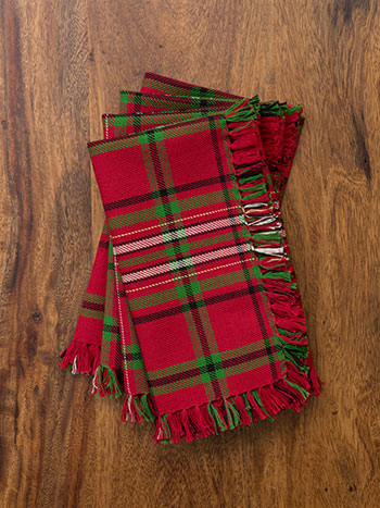 Christmas Plaid Napkin Set/4
