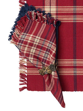 Cinnamon Plaid Napkin Set/4
