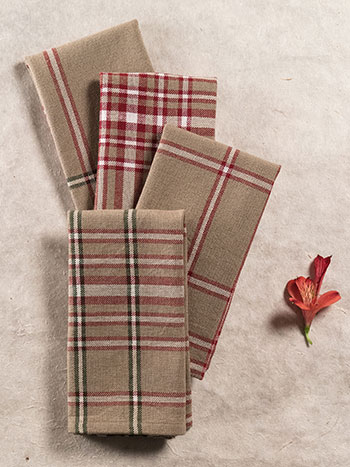 Homespun Christmas Plaid Napkin