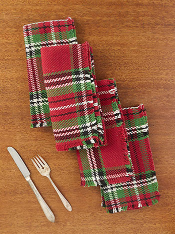 Merry Tartan Plaid Napkin Set of 4