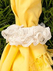 Lucy Lace Napkin Ring Set/4 - Ecru