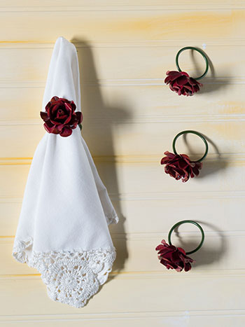 Rose Metal Napkin Ring