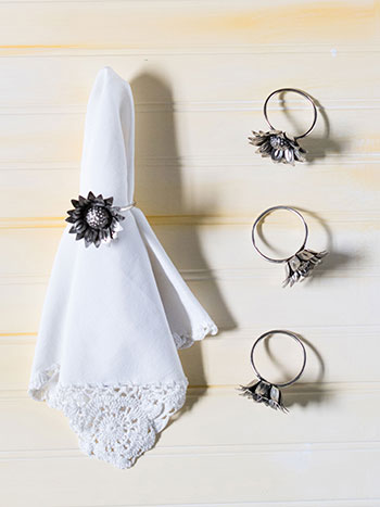 Sunflower Metal Napkin Ring