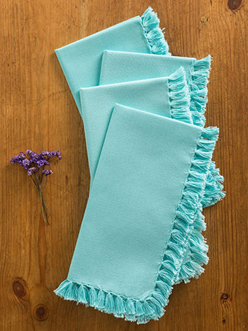 Essential Napkin Set of 4 - Aqua