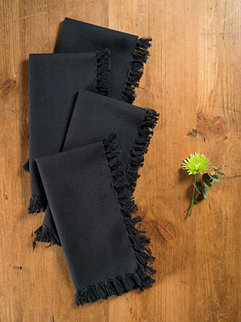 Essential Napkin Set of 4 - Black