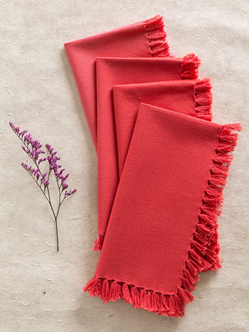 Essential Napkin Set/4 - Coral