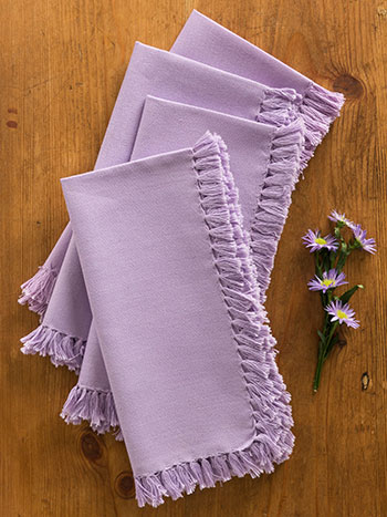 Essential Napkin Set of 4 - Lavender