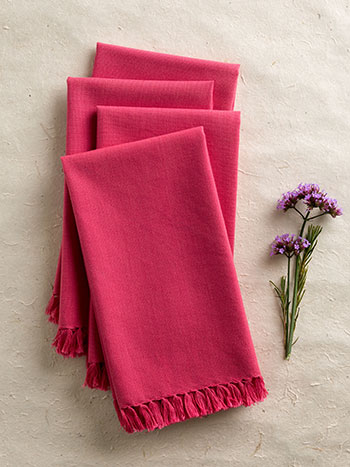 Essential Napkin Set/4 - Pink