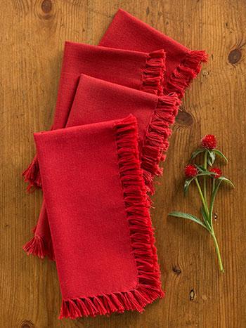 Essential Napkin Set/4 - Red