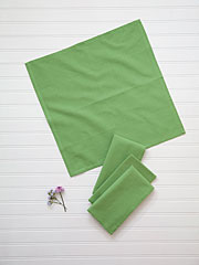 Essential Hemmed Napkin Set of 4 - Green