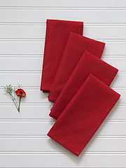 Essential Hemmed Napkin Set of 4 - Red