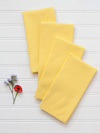 Essential Hemmed Napkin Set of 4 - Yellow