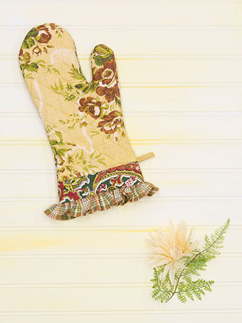 September Patchwork Oven Mitt