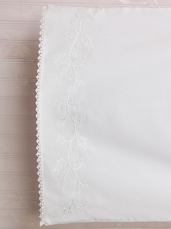 Cloud Embroidered Pillowcase