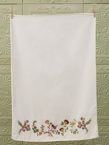 Garden Sampler Emb Pillowcase