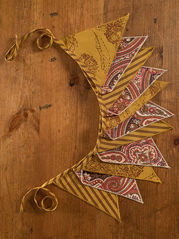 Autumn Patchwork Pennants