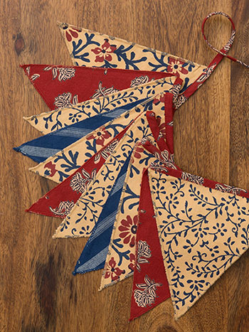 Flea Market Patchwork Pennants