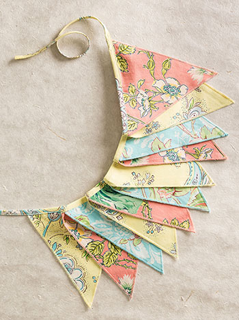 Garden Patchwork Pennants