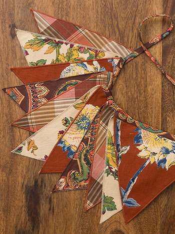 Harvest Riches Patchwork Pennants