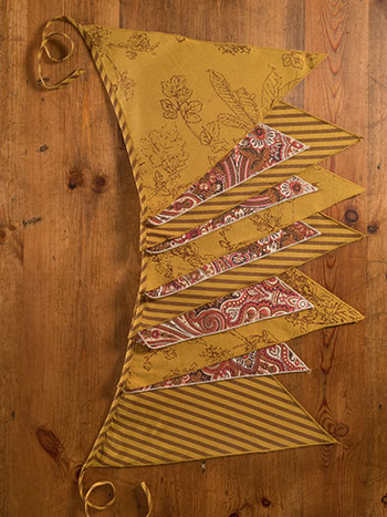 Autumn Patchwork Party Pennants
