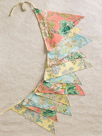 Garden Patchwork Party Pennants