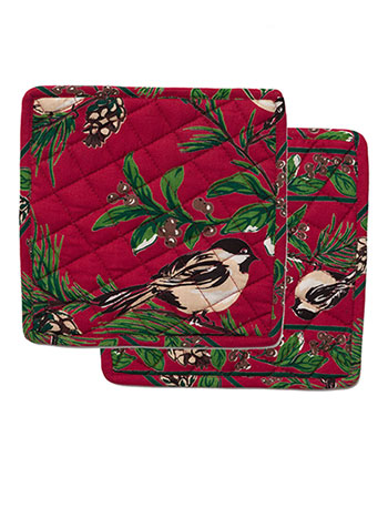 Chickadee Potholder Set/2