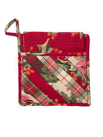 Christmas Patchwork Pocket Potholder Set/2